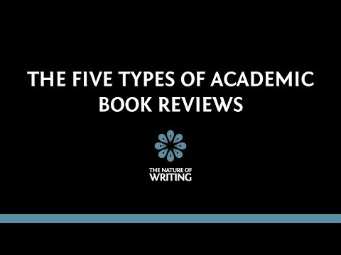 The Five Types of Academic Book Reviews