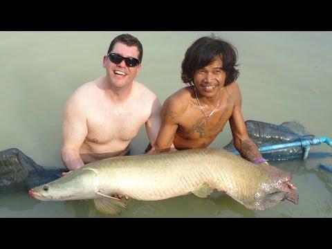 Amazon Fishing Park Pattaya   Thailand   Catching Arapaima, Redtail Catfish, Tiger Catfish, Asian Re