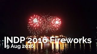 NDP 2016 Fireworks on 9th Aug 2016 (In FULL HD 1080p)