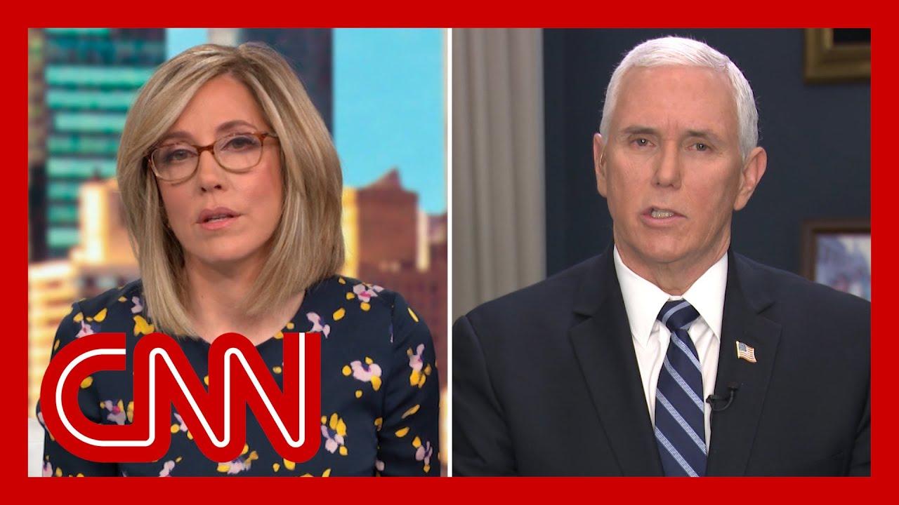 Camerota presses Pence on Trump's speech