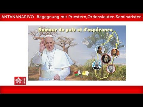 Papst Franziskus- Antananarivo-Begegnung mit Priestern 2019-09-08