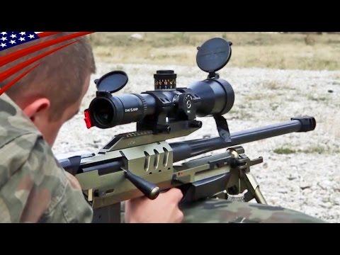 Bor Sniper Rifle, UKM-2000 Machine Gun etc. Polish Army Shooting - ボル狙撃銃・UKM-2000機関銃ほか、ポーランド軍の射撃