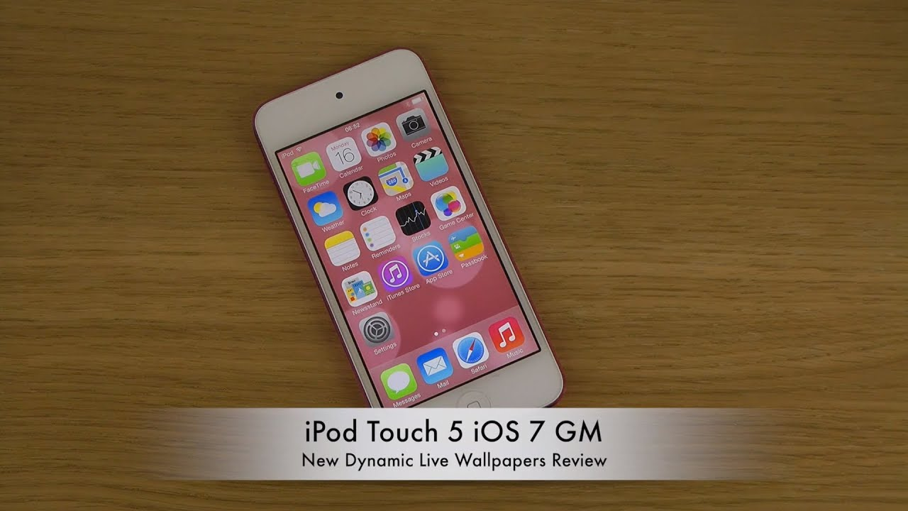 iPod Touch 5 iOS 7 GM - New Dynamic Live Wallpapers Review