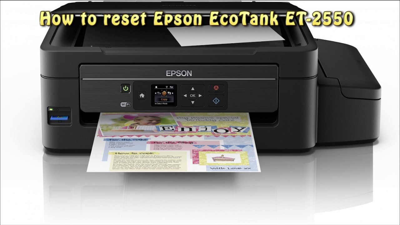 Reset Epson Et 2550 Waste Ink Pad Counter Youtube