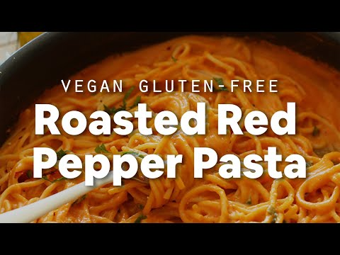 Vegan Roasted Red Pepper Pasta (GF) | Minimalist Baker Recipes