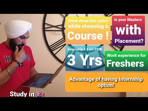 Internship In Uk | Choose Best Course | Course With Placements Year In Uk Job After Study In UK