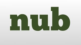 nub meaning and pronunciation