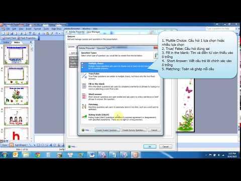 Hướng dẫn thiết kế giáo án điện tử E-Learning bằng Adobe Presenter 7 - Phần 1