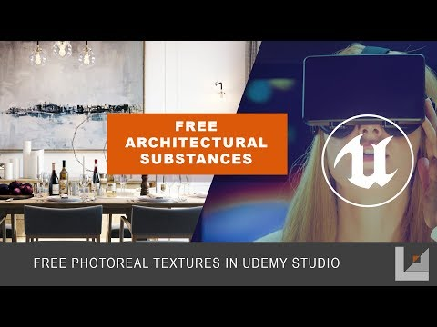 Unreal Studio: Using the Free Allegorithmic Substance Materials for Photoreal PBR Arch Viz Materials