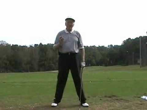 swinging golf Hitting