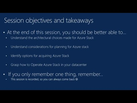 Microsoft Azure Stack delivery and operations overview - BRK2094