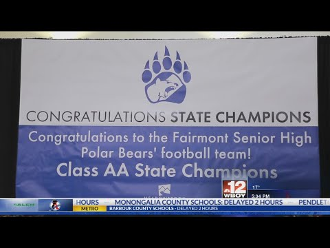 Meadowbrook Mall and community honor Fairmont Senior High School Football state champions
