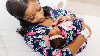 TOYA WRIGHT LOOKING FIERCE SHOWS OFF HER NEWBORN DAUGHTER , REIGN