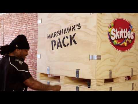 Skittles | Marshawn Lynch Debuts His Very Own Skittles Pack