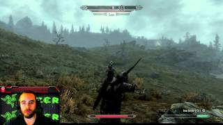 "Bajheera vs Giant: Round 1 - ""So I Became a Satellite"" XD - Skyrim Hilarity :D"