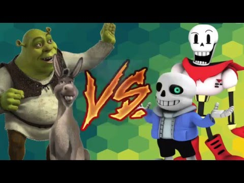 DJ Reacts To SANS and PAPYRUS vs SHREK and DONKEY! Cartoon Fight Club Episode 38