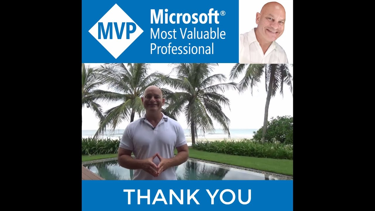 WOW! Microsoft MVP! Thank You So Much