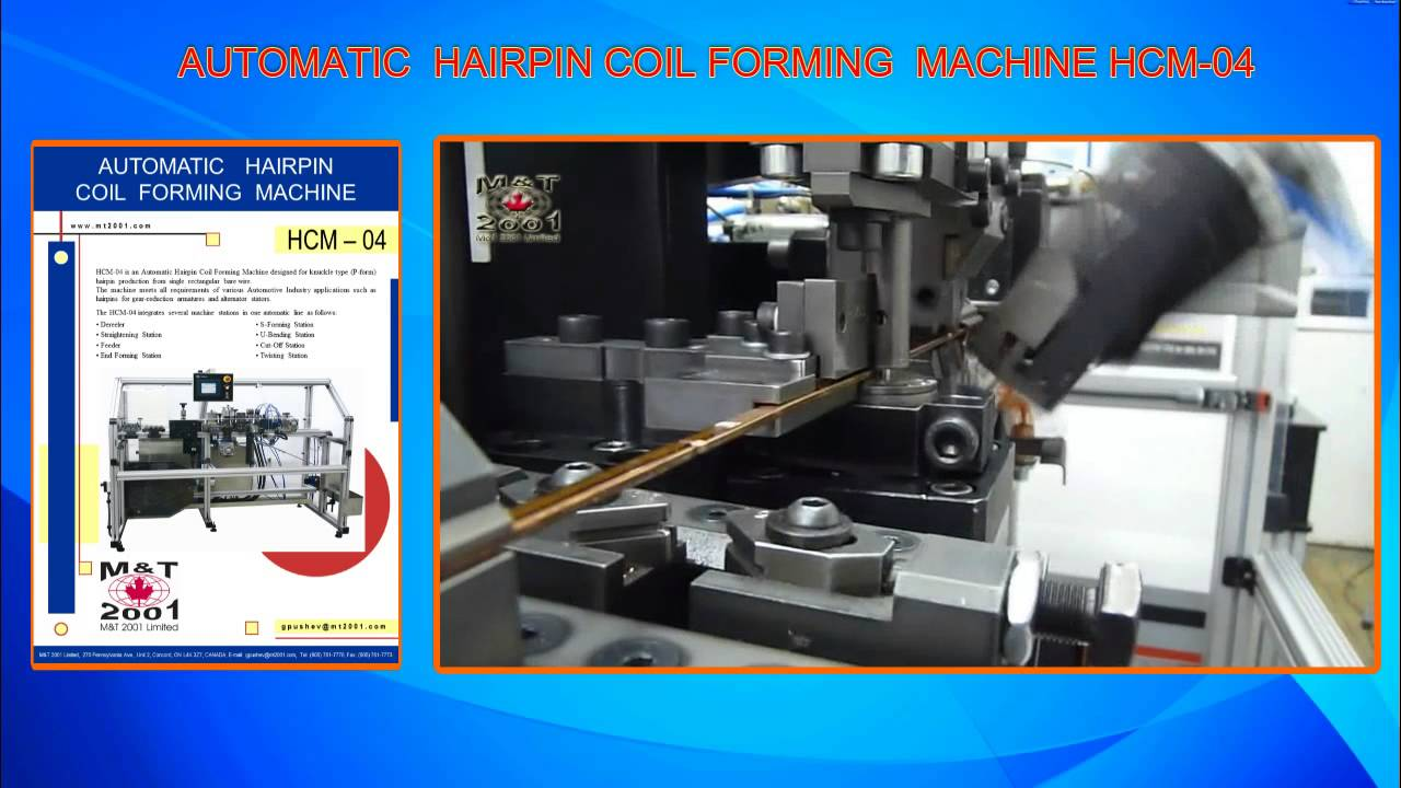 Hcm 04 Hairpin Coil Forming Machine Youtube
