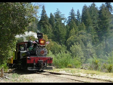 Roaring Camp Railroad and Big Trees in Santa Cruz, CA
