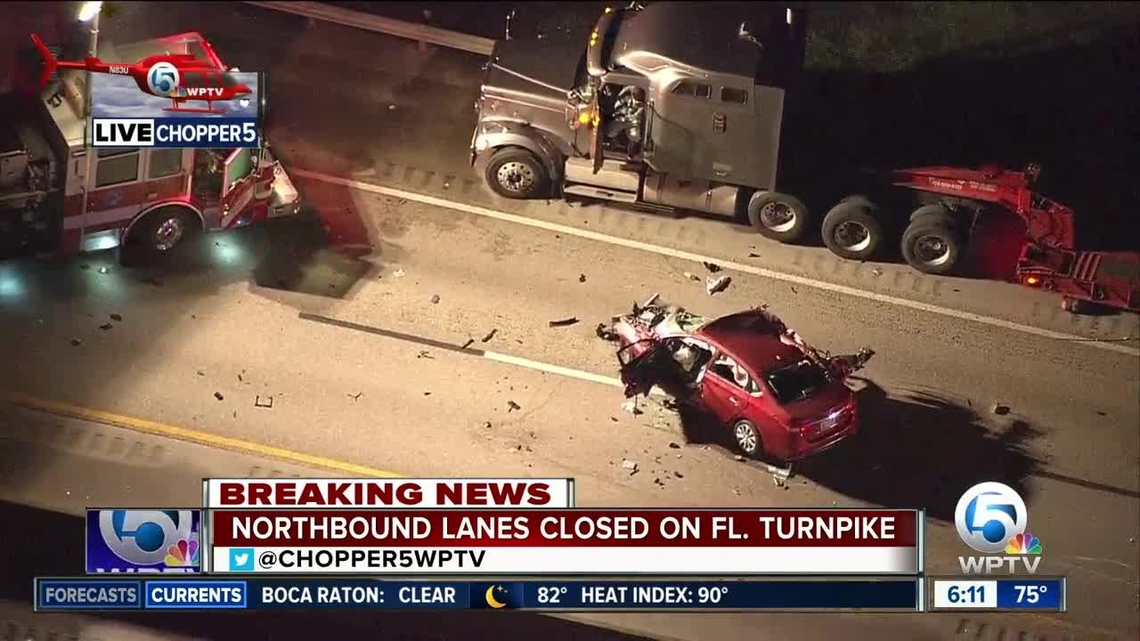 Florida's Turnpike northbound closed in Martin County for
