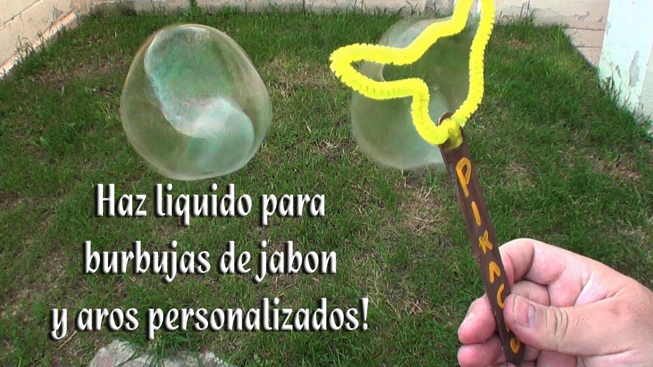 Como hacer el liquido para hacer burbujas y arillos - Como hacer plastico liquido ...