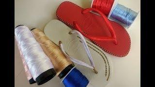 Quais fios eu Uso para enrolar as tiras da havaianas | Como encontrar os Modelos de chinelo no Canal