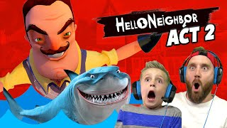 CRAZY SHARK! Hello Neighbor ACT 2 Probs! KIDCITY GAMING