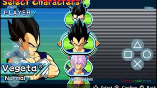 Dragon Ball Z : Shin Budokai : All characters