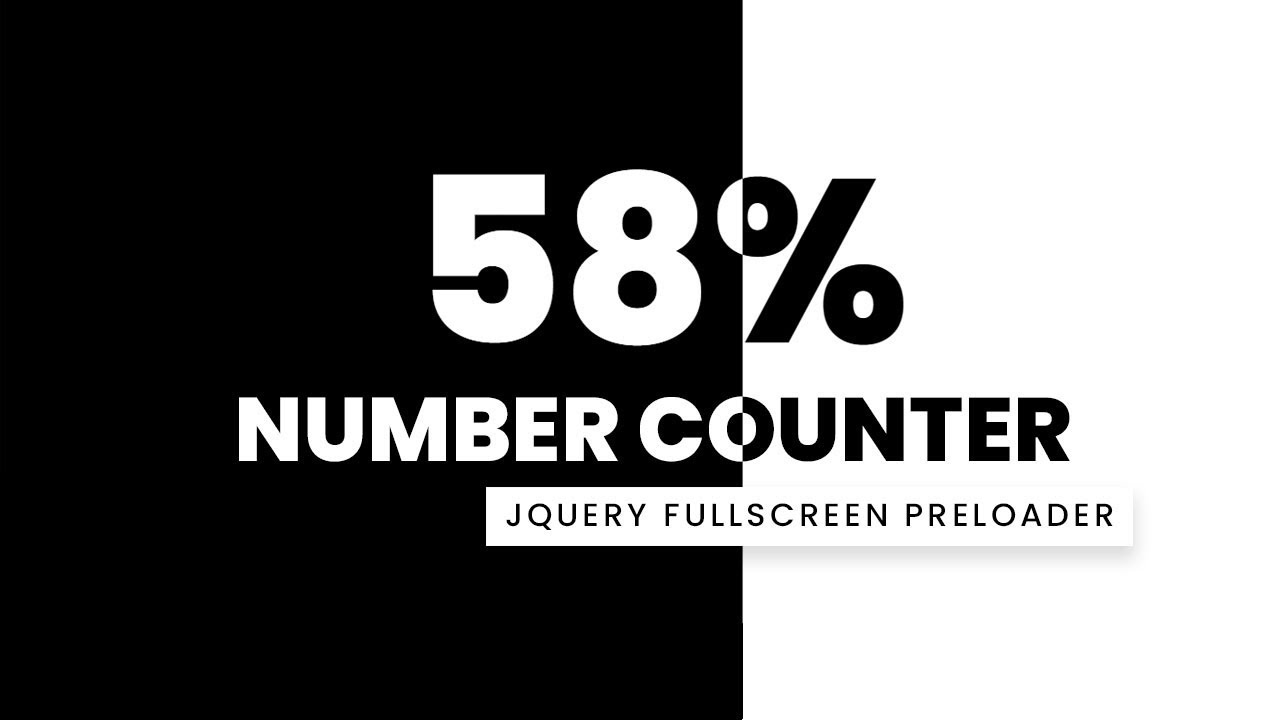 Fullscreen Number Counter Preloader | Html CSS and jQuery