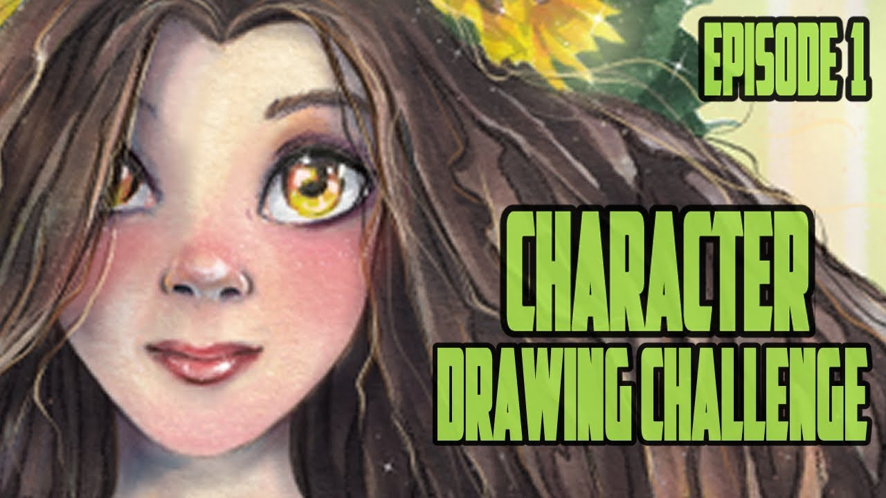 All New Character Drawing Challenge Episode 1 Sunflower