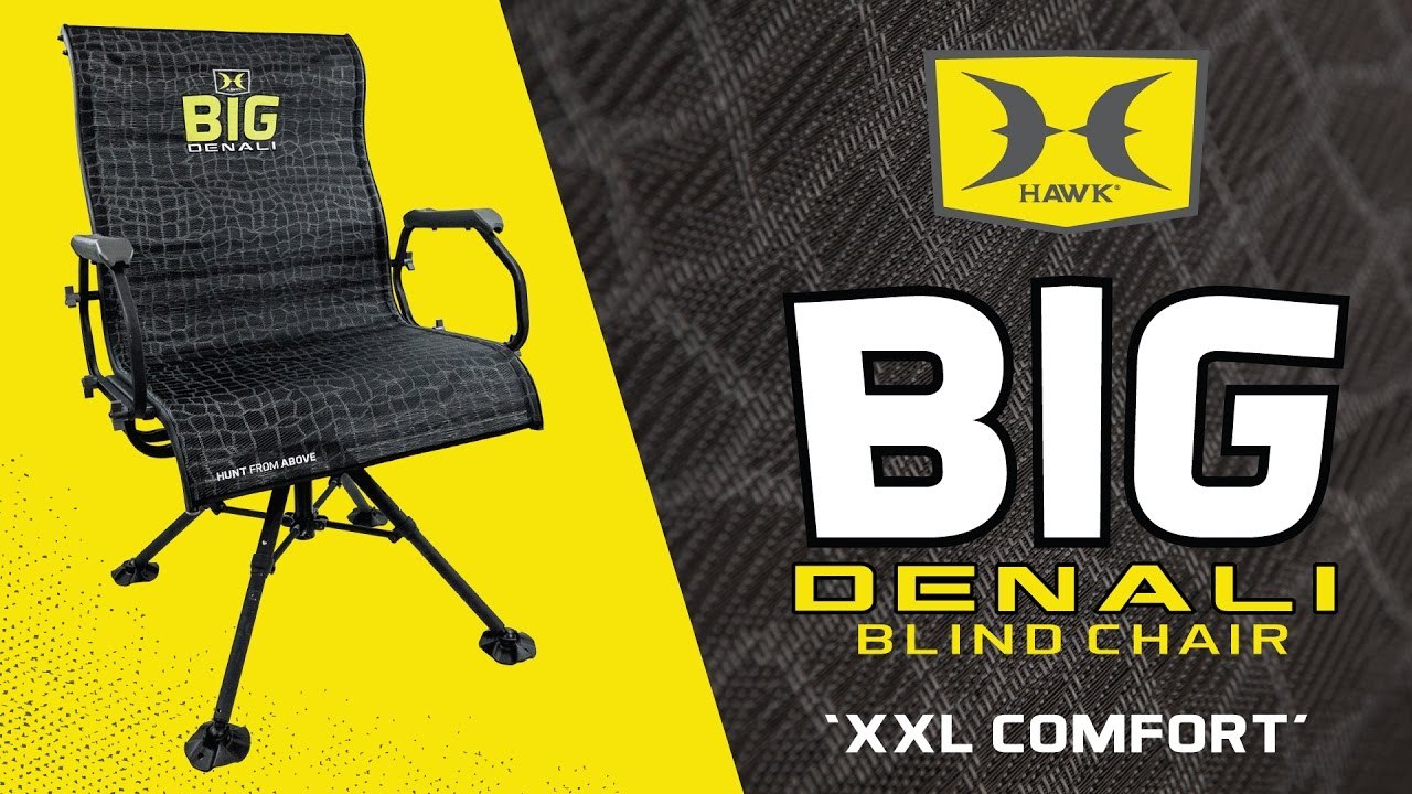 swivel hunting chair reviews bedroom loaf the most comfortable blind big denali by hawk youtube