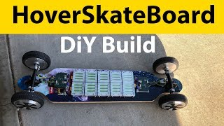 Baja Electric Skateboard using Hoverboard wheels (HoverSkateBoard)