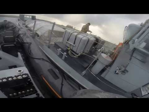 Royal Navy seaboat Exercise Gopro