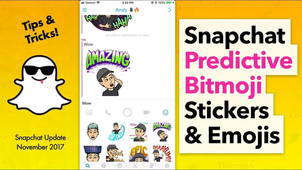 How to Use Search Bitmoji & Emoji on Snapchat