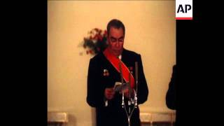 UPITN 28 11 76 BREZHNEV DECORATED BY PRESIDENT CEAUSESCU
