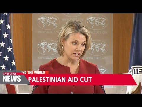 U.S. to cut Palestinian aid by almost half