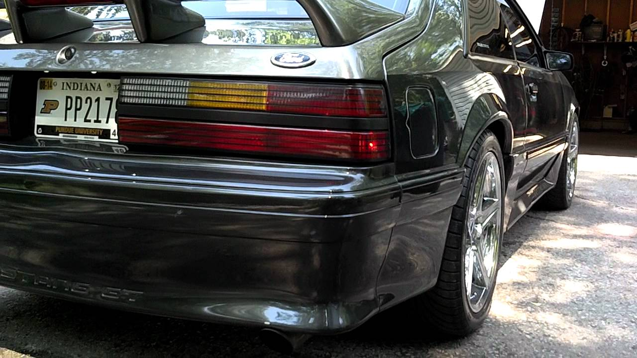 Fox Body Mustang >> Vortech Supercharged 91 fox body mustang - YouTube