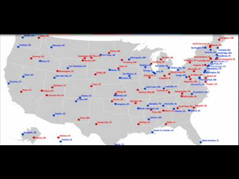Most Liberal Most Conservative Towns In Each State