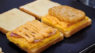 Deep Cheese Bacon Potato Toast - Korean Street Food