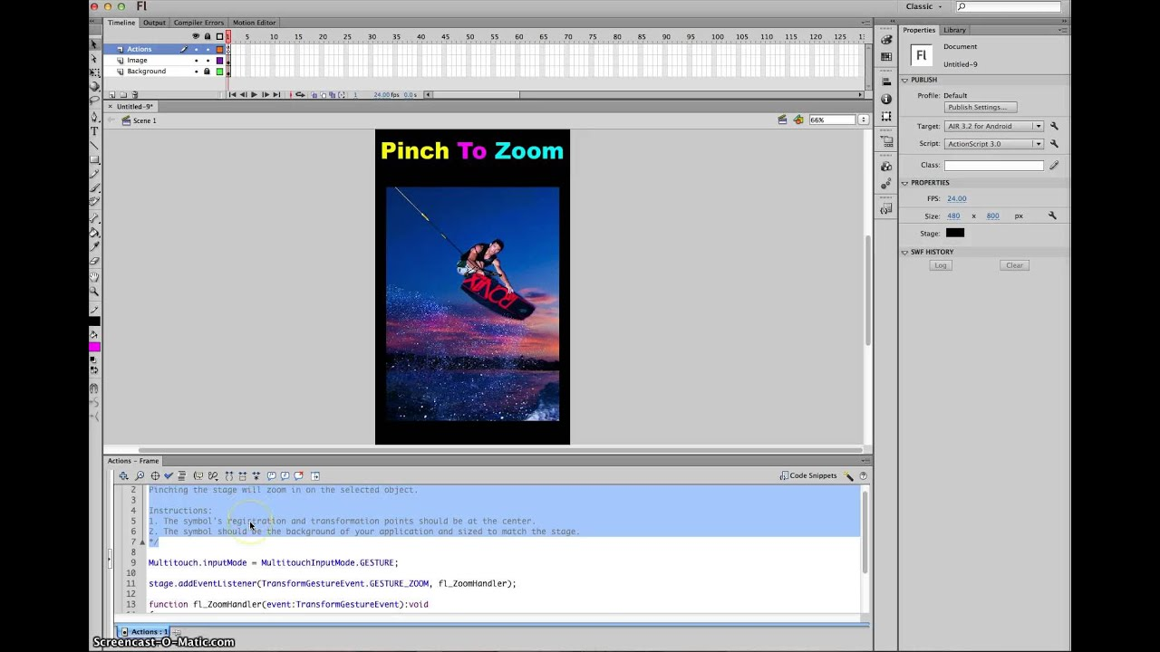 Pinch To Zoom Tutorial