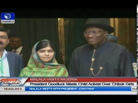 President Jonathan Meets With Child Activist Malala On Chibok Girls