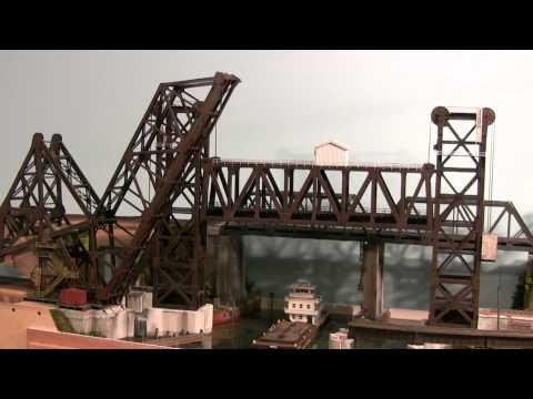 Calumet River Vertical Lift Bridge in HO Scale