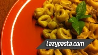 Tortellini with porcini mushrooms and blue cheese  easy pasta recipes by Lazy Pasta