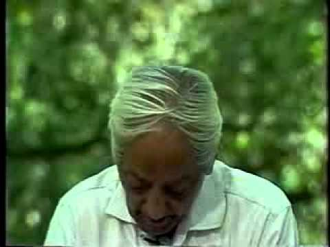 J. Krishnamurti  on Thinker and Thought (Extract from Q&A1, Ojai 1983)