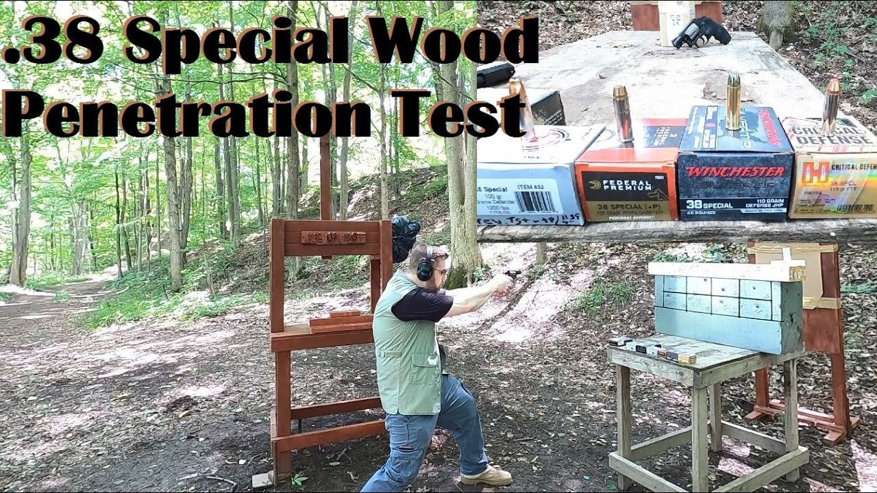 .38 Special Wood Penetration Test