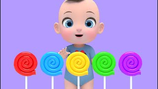 Learn Color with Skip to My lou Song 색깔 롤리팝과 함께 신나는 영어동요! Nursery rhymes 라임이와 영어 공부 해요!