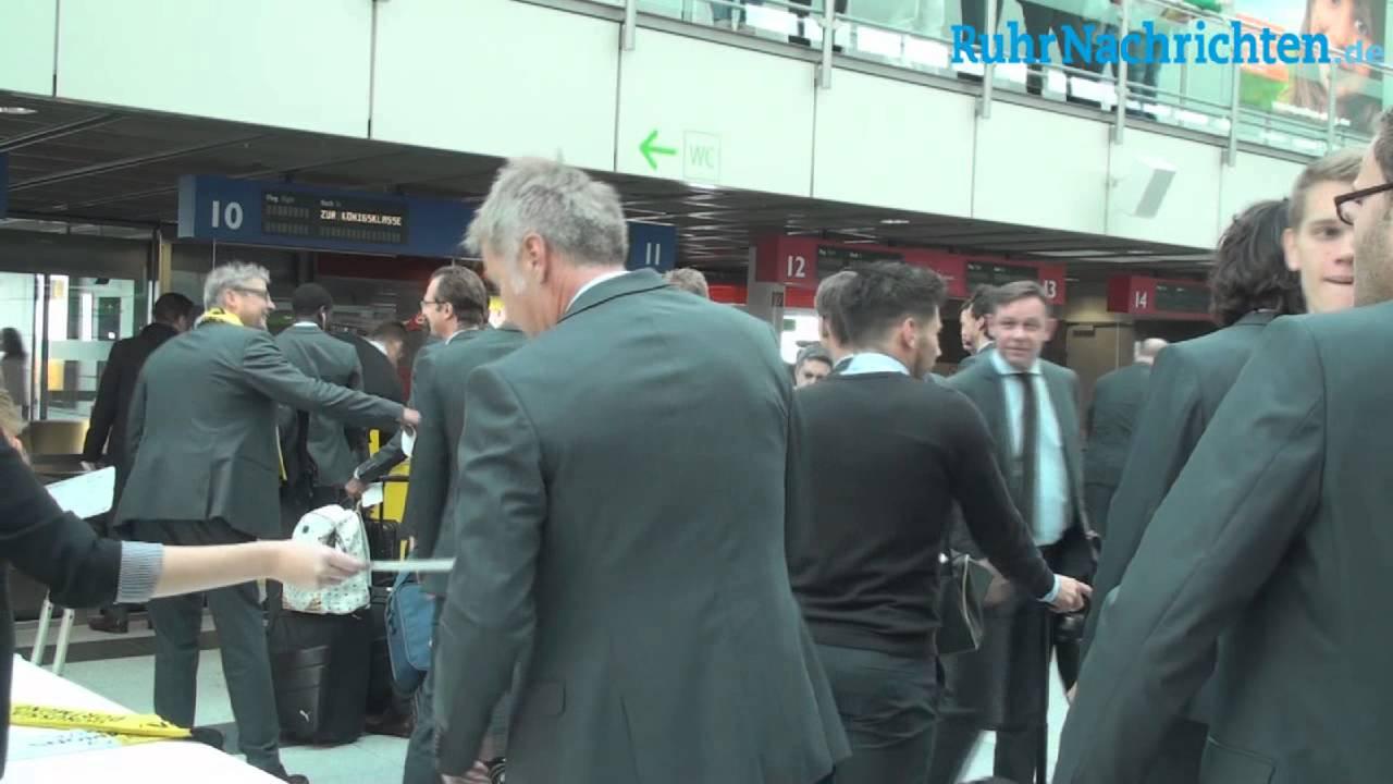 Der BVB auf dem Weg nach Anderlecht