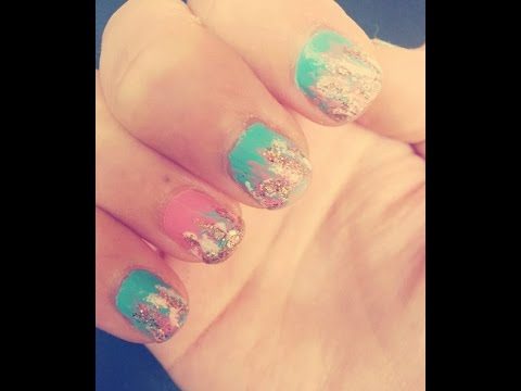 Edgy Girly Nail Art Summer Designeasy Youtube