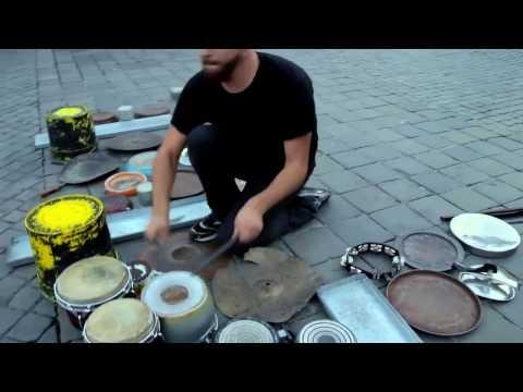 Best street performer 2017 || Making music from Junk