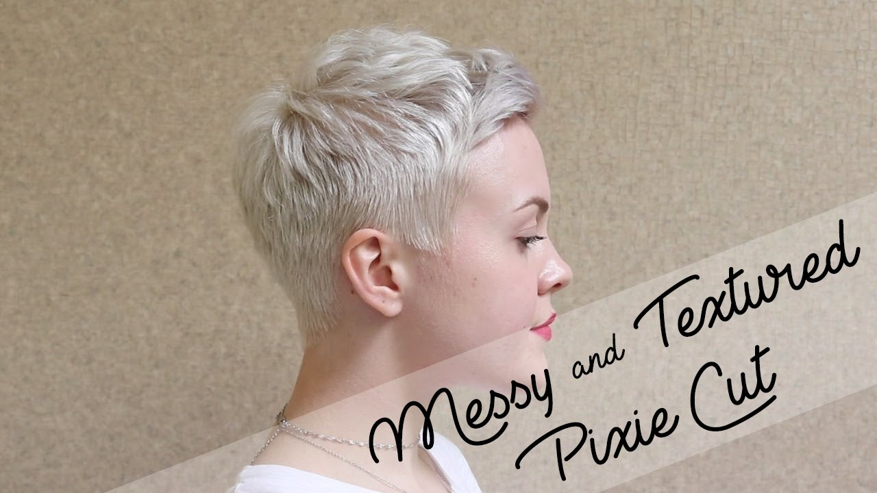 Pixie Cut Hairstyle Using Mini Flat Iron  Messy  Textured  YouTube
